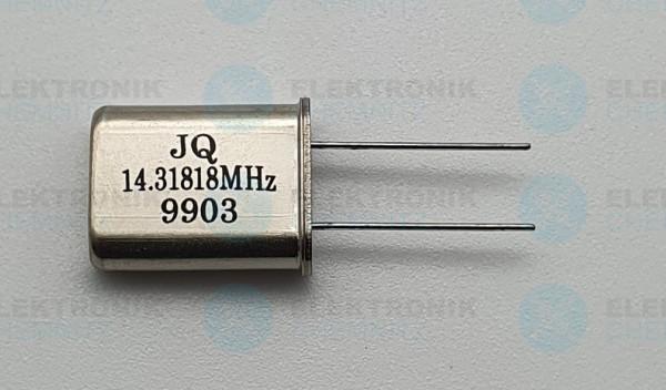 Quarzoszillator KDS 14.31818MHz