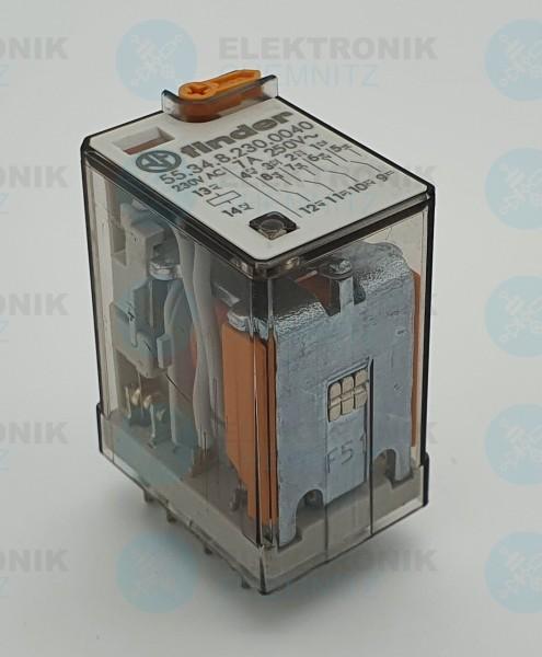 Finder 55.34.8.230.0040 Industrierelais, 4x UM, 250V/5A, 230VAC