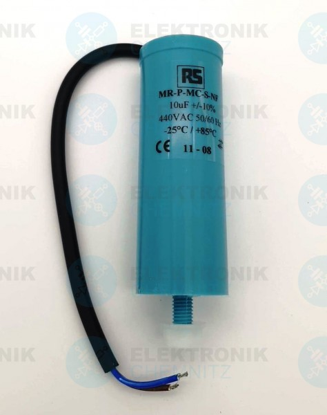 Betriebskondensator 10µF +-10% mit Kabel