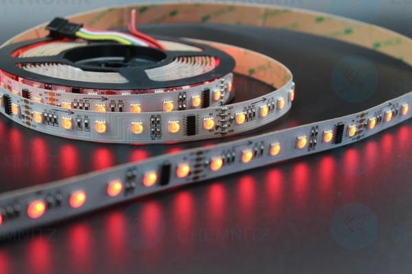 LED Streifen 5050-60-UCS512A2 DMX DC24V RGBW 6000K 10px/m IP20 PCB: weiß 15mm