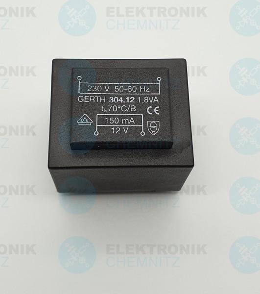 Printtrafo GERTH 304.12 230V 1x12V 1,8VA