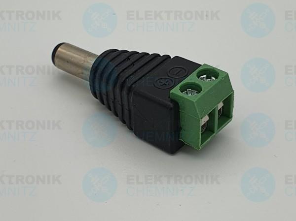 DC Power Verbinder schwarz 5,5x2,1 Stecker Stecker