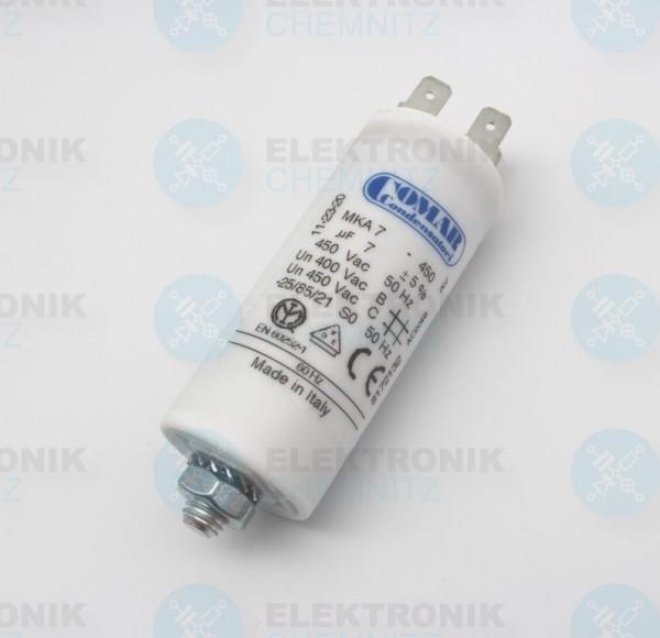 Betriebskondensator 7µF +- 5% mit Flachstecker