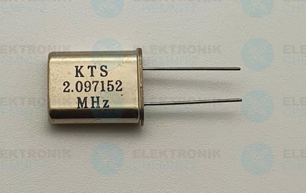 Quarzoszillator KTS 2.097152MHz