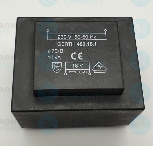 Printtrafo GERTH 480.18.1 230V 1x18V 10VA