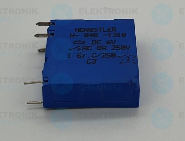 Hengstler Kartenrelais H-048-1310 6V 8A