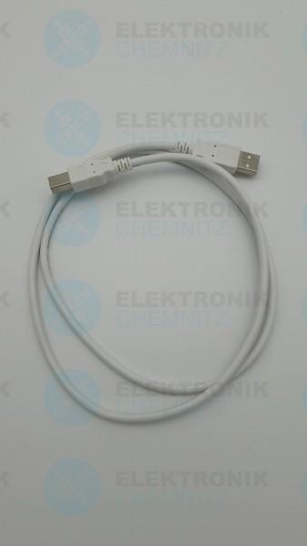 USB 2.0 Kabel weiß 1,0m A Stecker auf B Stecker