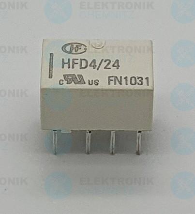 HONGFA HFD4/24 Relais 2x Wechsler 2 A 24 Vdc