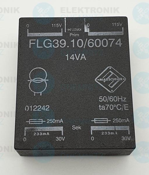 Printtrafo Marschner FLG39.10/60074 2x115V 2x30V 233mA