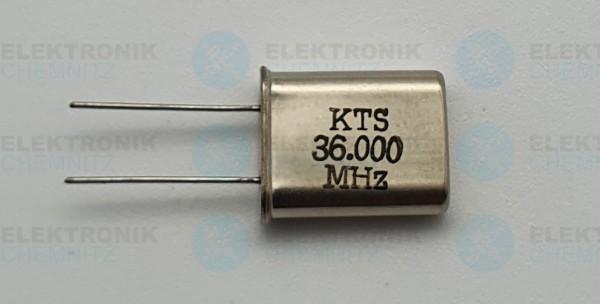 Quarzoszillator KTS 36.000MHz