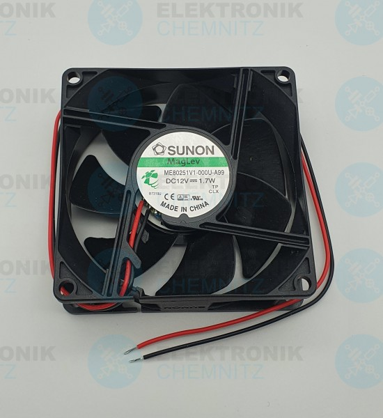 SUNON MagLev ME80251V1-000U-A99 Lüfter 80x80x25 DC12V 1,7W