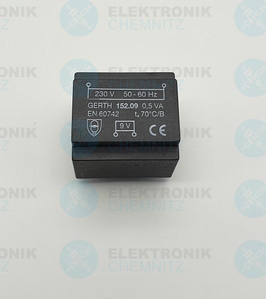 Printtrafo GERTH 152.09 230V 1x9V 0,5VA