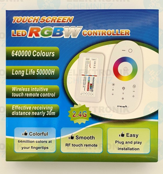 LED Stripe Controller RGBW RF touch 2,4GHz