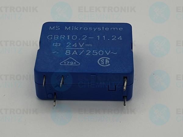 MS Mikrosysteme Kartenrelais GBR10.2-11-24 24V 1 Wechsler