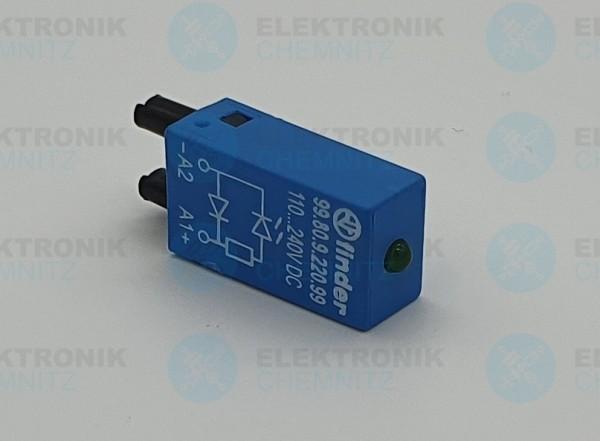 Finder Steckmodul mit LED+Diode 110-240VDC! 99.80.9.220.99