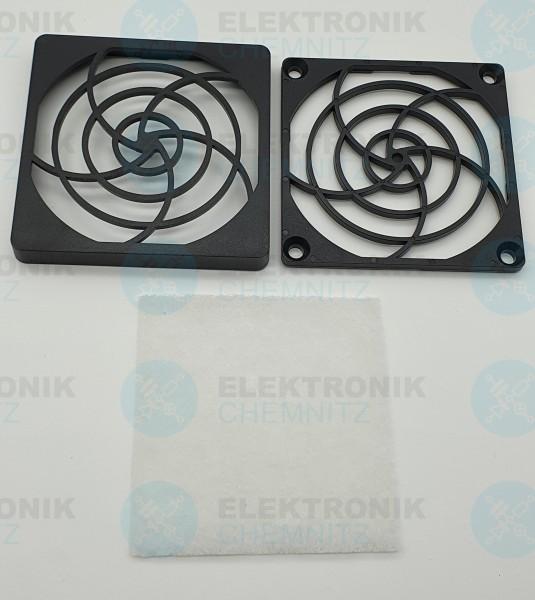Lüfter Filterhalterset 80x80 PVC-Halterung + Filtereinsatz