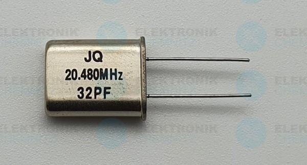 Quarzoszillator JQ 20.480MHz 32PF
