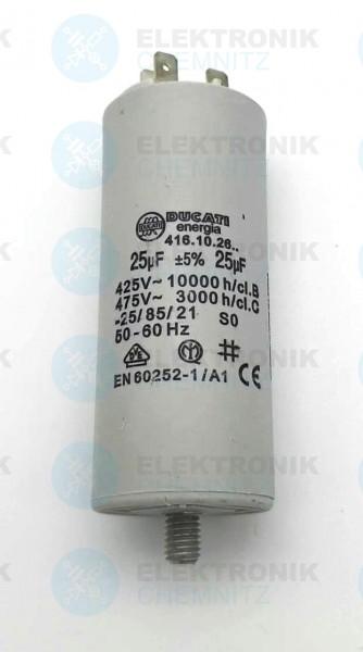 Betriebskondensator 25µF +-5% mit Flachstecker
