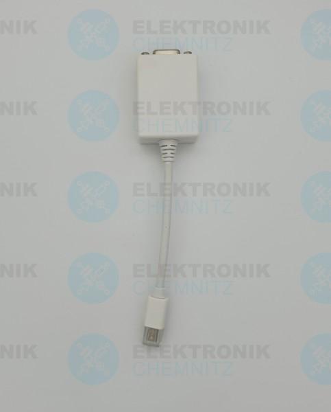 DisplayPort Mini VGA Adapter weiß 0,1m Mini DisplayPort Stecker auf VGA 15-Pin Buchse