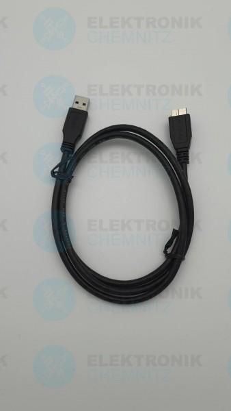 USB 3.0 Kabel schwarz 1,0m A Stecker auf Micro Stecker B USB 3.2 Gen 1
