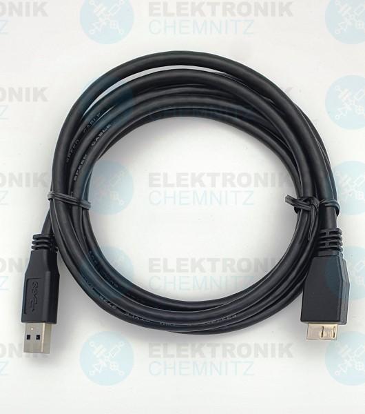 USB 3.0 Kabel schwarz 1,8m A Stecker auf Micro Stecker B
