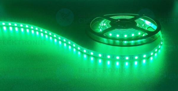 LED Streifen 5050-60-grün DC24V 12W/m IP20 PCB: weiß 10mm