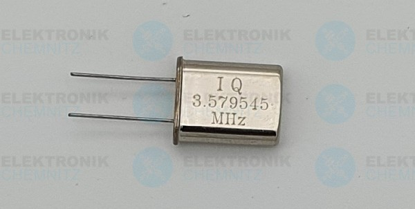 Quarzoszillator IQ 3.579545MHz HC49-U