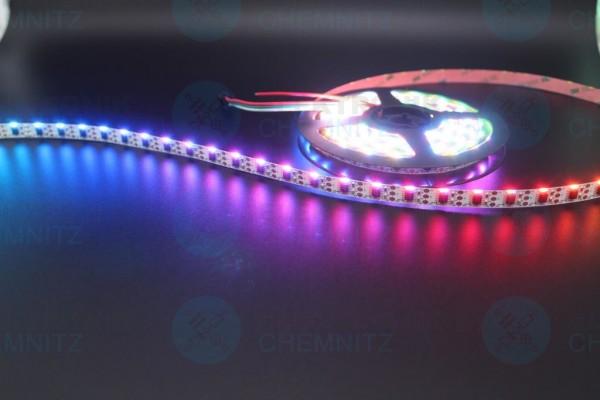 LED Streifen 335-60-WS2811 digital sideview DC5V RGB 60px/m IP20 PCB: weiß 10mm