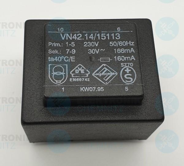 Printtrafo Marschner VN42.14/15113 230V 1x30V 166mA