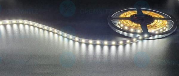 LED Streifen 5050-60-6000K DC24V 12W/m IP20 PCB: weiß 10mm