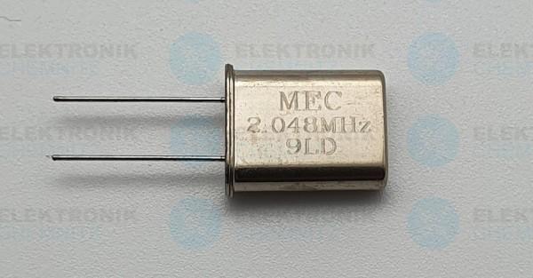 Quarzoszillator MEC 2,048MHz 9LD