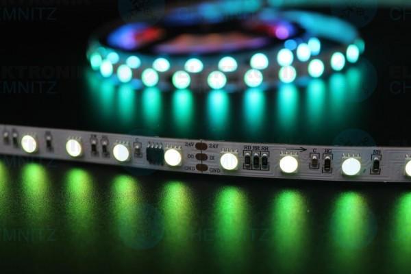 LED Streifen 5050-60-UCS2904B digital DC24V RGBW 2800K 10px/m IP20 PCB: weiß 10mm