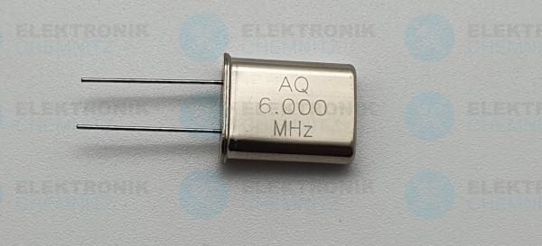 Quarzoszillator AQ 6.000MHz