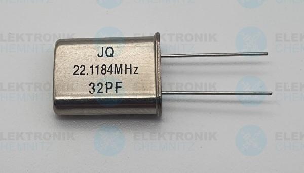 Quarzoszillator JQ 22.1184MHz 32PF