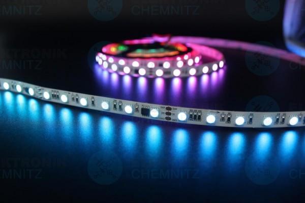 LED Streifen 5050-60-UCS2904B digital DC24V RGBW 4000K 10px/m IP20 PCB: weiß 10mm