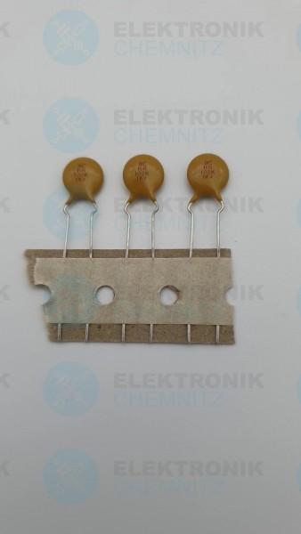 Keramikkondensator 1000pF +-10% 1000V RM5,0 Scheibe