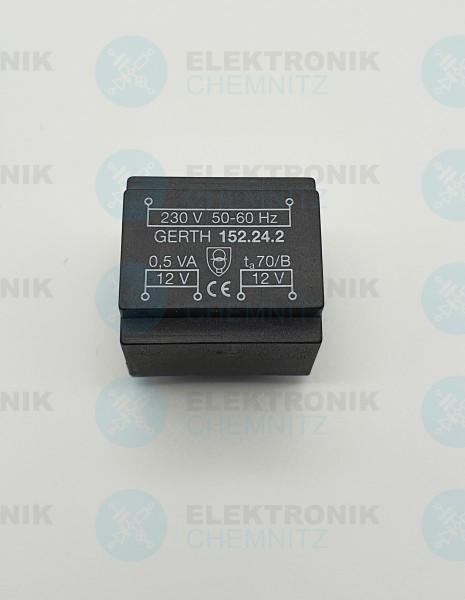 Printtrafo GERTH 152.24.2 230V 2x12V 0,5VA