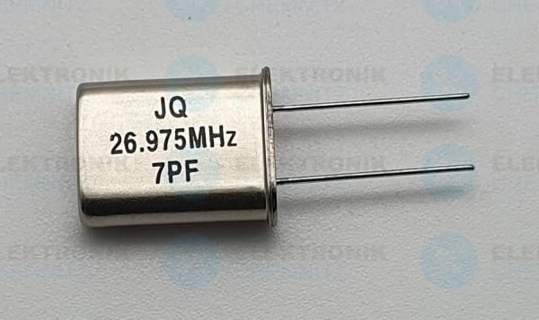 Quarzoszillator JQ 26.975MHz 7PF