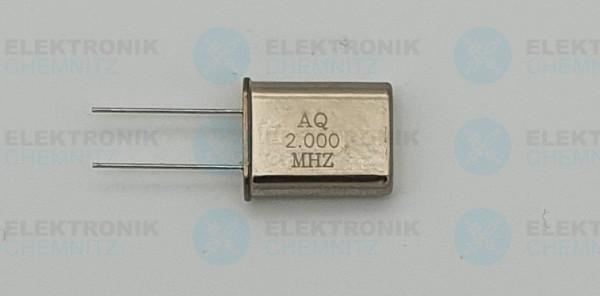 Quarzoszillator AQ 2.000MHz HC49-U