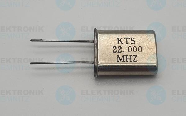 Quarzoszillator KTS 22.000MHz