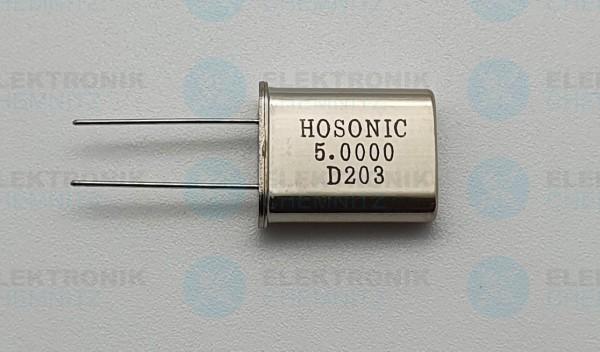 Quarzoszillator HOSONIC 5.0000MHz D203