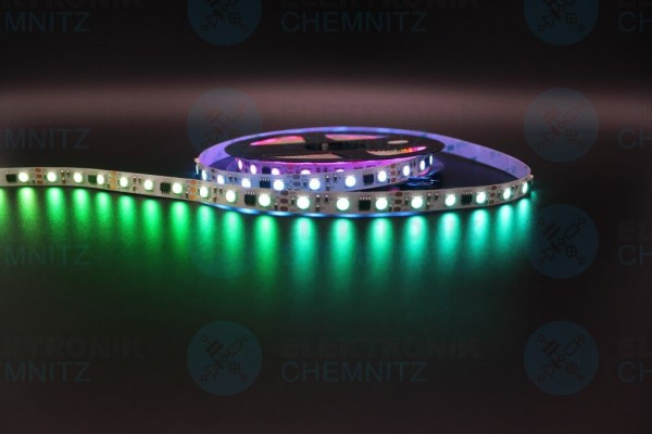 LED Streifen 5050-60-UCS2904B digital DC12V RGBW 4000K 20px/m IP20 PCB: weiß 10mm