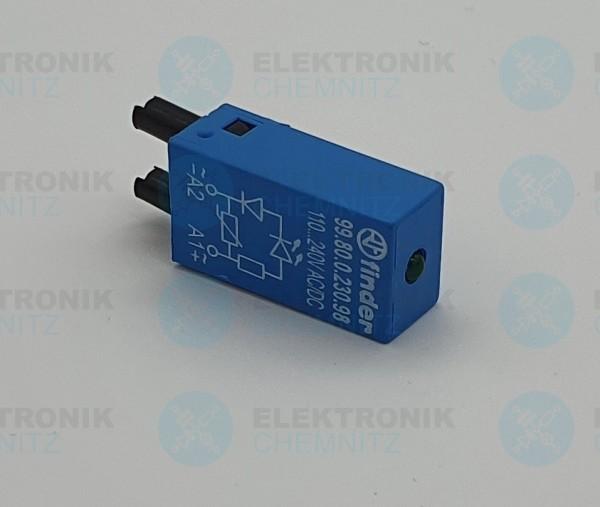 Finder Steckmodul mit LED+Diode 110-240V AC/DC 99.80.0.230.98