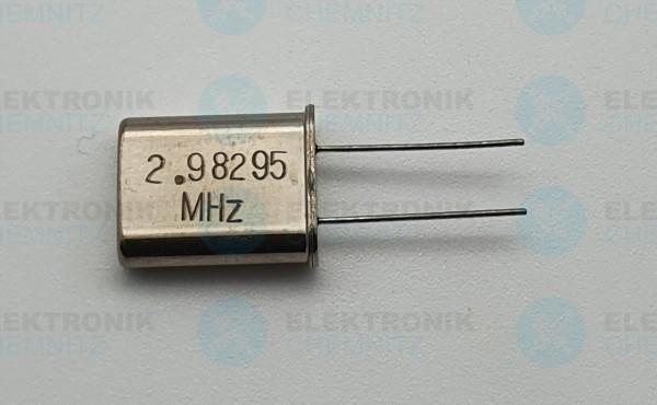 Quarzoszillator 2.98295MHz