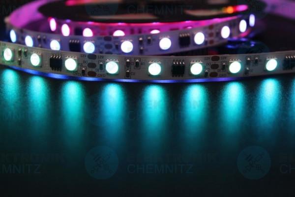 LED Streifen 5050-60-UCS2904B digital DC12V RGBW 2800K 20px/m IP20 PCB: weiß 10mm