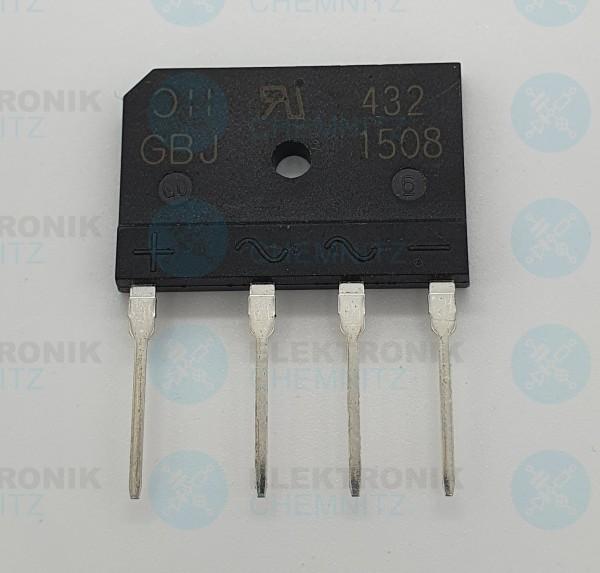 Brückengleichrichter flach GBJ1508 800V 15A