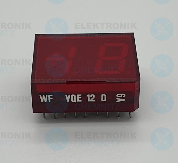 VQE12D Lichtemitteranzeige 1,5 stellig GaP Basis