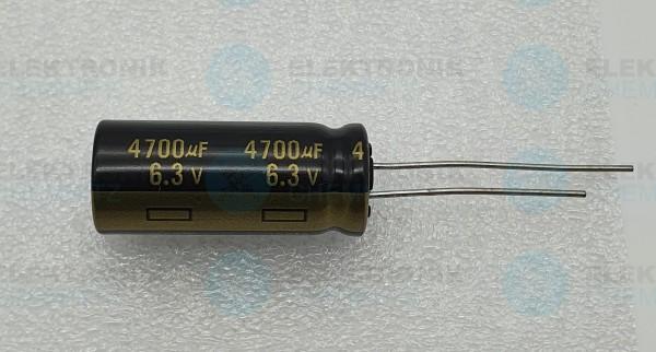 Elektrolytkondensator radial 4700µF 6,3V 105°C RM 5