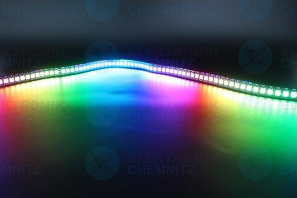 LED Streifen 5050-144-SK6812 digital DC5V RGB 144px/m IP20 PCB: schwarz 12mm 1m Stücke
