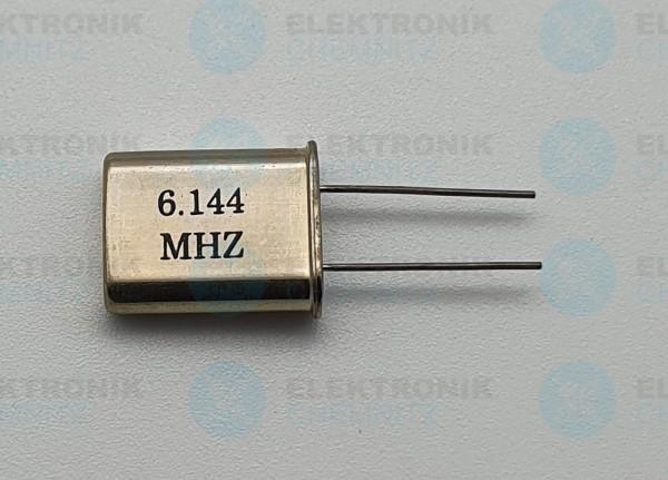 Quarzoszillator 6.144MHz